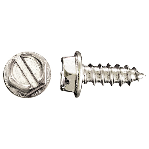 """Hex-Head with Washer Metal Screws - #10 x 1/2"""" - 100/Box"""