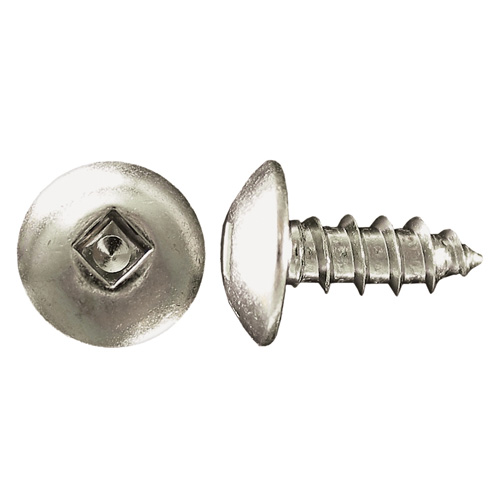 """Truss-Head Zinc-Plated Metal Screws - #10 x 1/2"""" - 10/Box"""