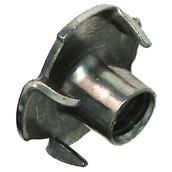 Tee Nuts - 4 Prongs - #6-32 - Steel - Zinc - 8/Pk