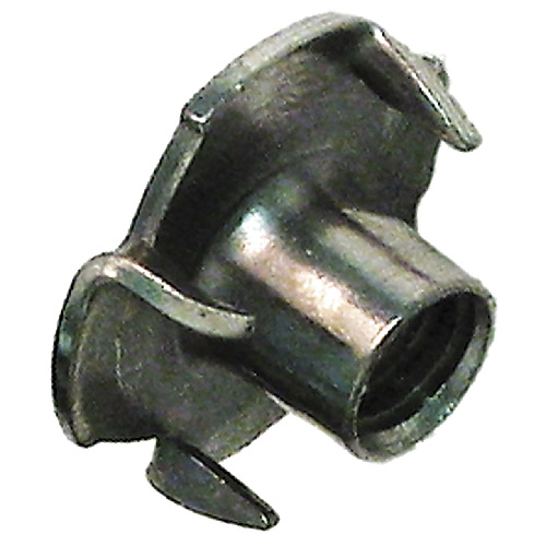 Écrous en T à 4 pointes, N° 10-24, acier, zinc, 6/pq