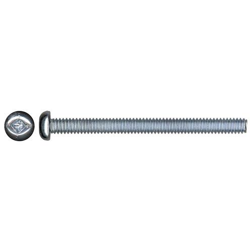 "Pan-Head Zinc-Plated Machine Screws - #6 x 1 1/4"" - 10/Box"