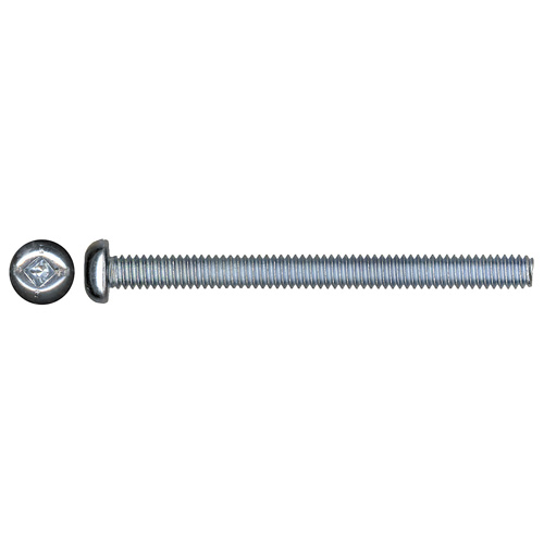"Pan-Head Zinc-Plated Machine Screws - #8 x 2 1/2"" - 4/Box"