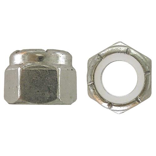Écrou d'arrêt, #8-32, 6/pqt, zinc