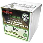 "Precision Deck Screws - #8 x 3"" - Green - 453/Box"