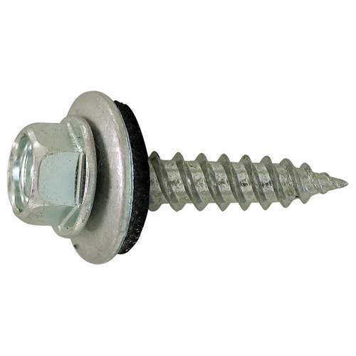 "Hex with Neoprene Washer Roof Screws - #8 x 1 1/2"" - 100/Box"