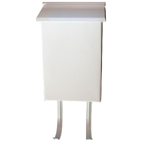 Boîte aux lettres verticale, blanc, 6 1/2 po x 10 po