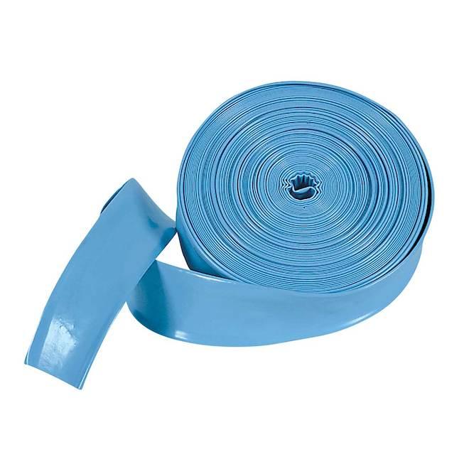 Boyau de vidange pour piscine, 100 pi x 1,5 po, bleu