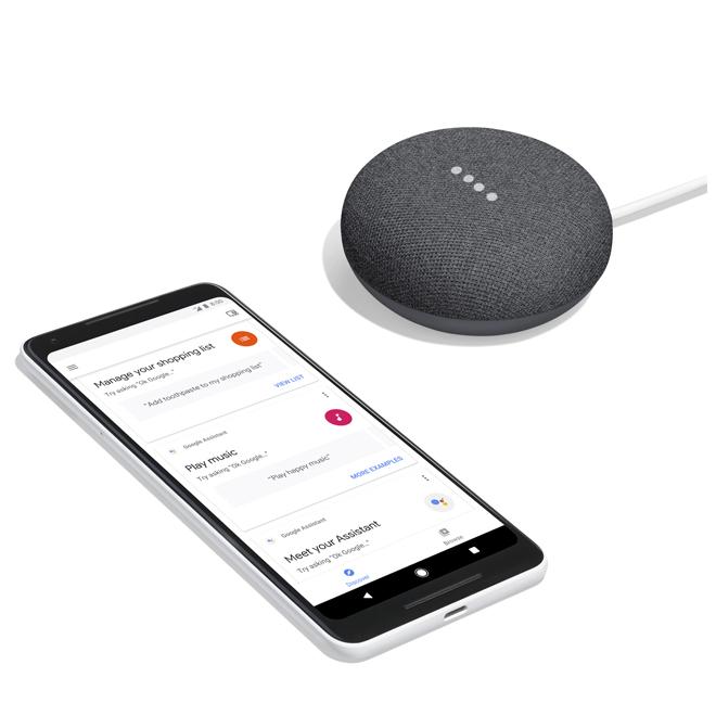 Google Home Mini - Smart Speaker - Charcoal