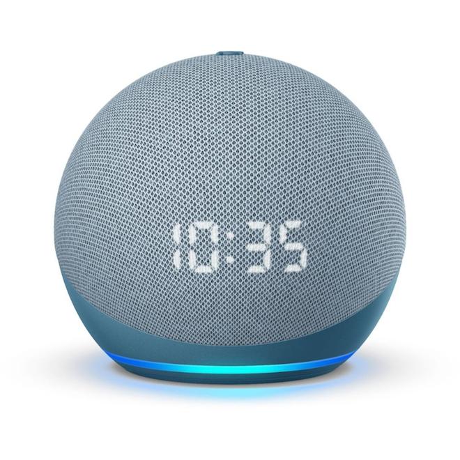 Amazon Echo Dot 4th Generation Smart Speaker with Clock - Twilight