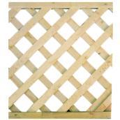 Treillis en cèdre à motif diagonal, 2 pi x 8 pi