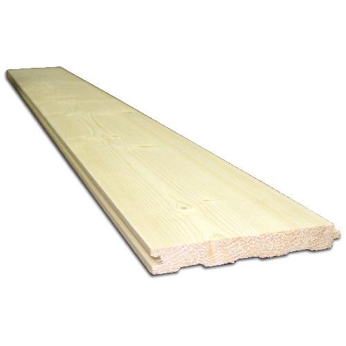 Planche de pin blanc embouvetée, 1 po x 6 po x 6 pi
