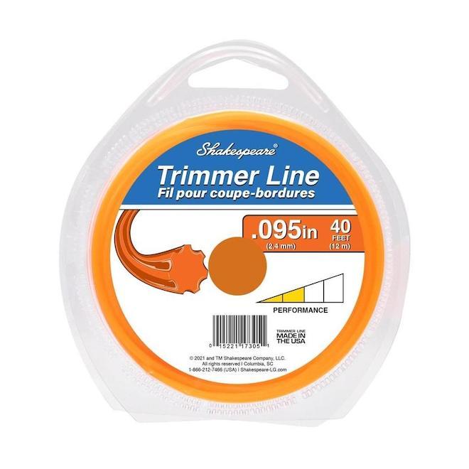 Shakespeare Universal Trimmer Line - 0.095-in x 40-ft - Orange