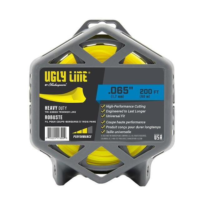 Shakespeare - Ugly Line Tri-Edge Trimmer Line - 0.065-in x 200-ft