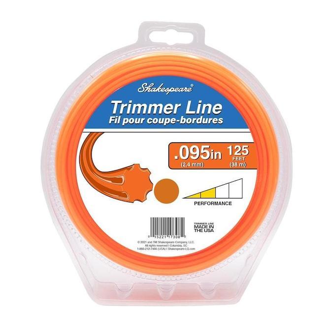 Shakespeare Universal Trimmer Line - 0.095-in x 125-ft - Orange