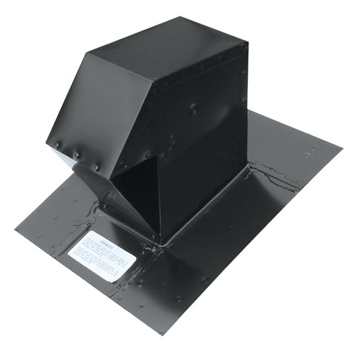 Ventilation Maximum Black 4 Galvanized Steel Roof Exhaust Trap CT-4-N
