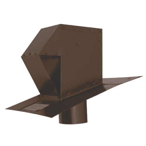Ventilation Maximum Brown 4 Galvanized Steel Roof Exhaust Trap CT-4-B