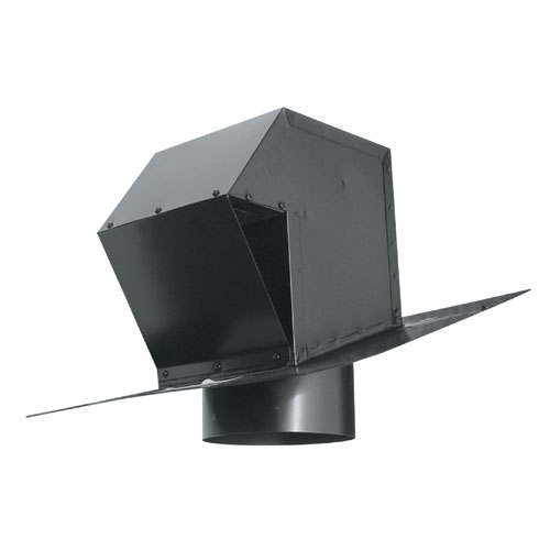 Ventilation Maximum Black 6 Galvanized Steel Roof Exhaust Trap CT-6-N