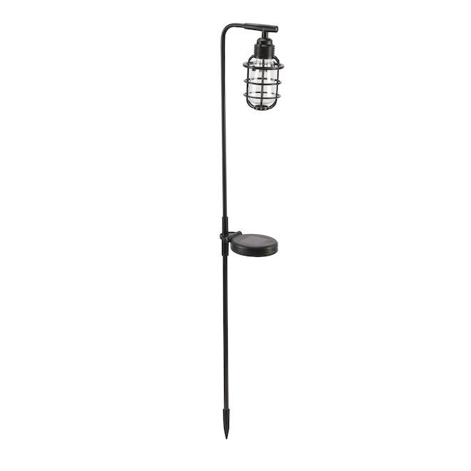 Luxworx Solar Stake Light - LED - 31.1-in - Plastic - Black
