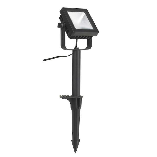 Vision Home LED Garden Flood Light - Aluminum 9.29-in Black