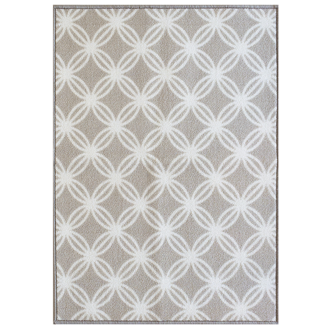 "Carpette décorative, 26"" X 35"", polyester, taupe"