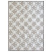"Decorative Mat - 26"" X 59"" - Polyester - Taupe"