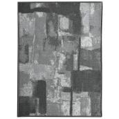 Tapis de couloir Lyra en polyester 26'' x 98'', gris