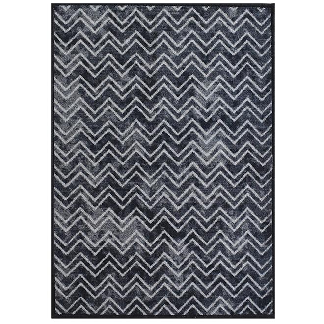 """Carpette décorative, 26"""" x 35"""", Bastille, polyester, noir"""