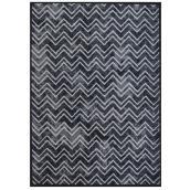 "Decorative Rug - 26"" x 35"" - Bastille - Polyester - Black"