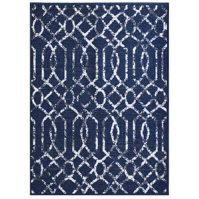 "Carpette, 26"" x 35"", polyester, Electro, bleu"