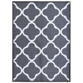 "Mat - 26"" x 35"" - Polyester - Truffle - Polyester - Light Grey"