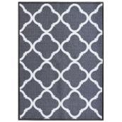 """Carpette, 26"""" x 59"""", polyester, Truffle, gris pâle"""