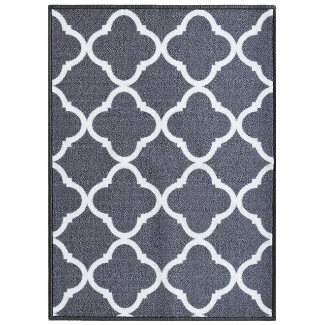 """Carpette de couloir, 26"""" x 98', Truffle, polyester, gris pâle"""