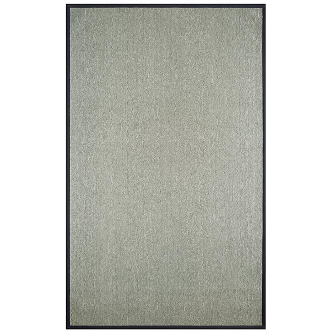 ''Sisal'' Indoor Decorative Carpet - 6' x 8' - Grey