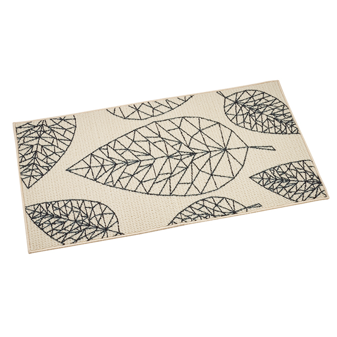 Leaf Printed Indoor Decorative Rug - 27'' x 45''