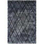 Tapis décoratif « trellis » 5-1/4' x 7-1/2', charbon