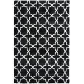 ''Mosaic'' Indoor Decorative Carpet - 8' x 10' - Black/White