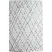 Tapis décoratif « trellis », 5-1/4' x 7-1/2', blanc