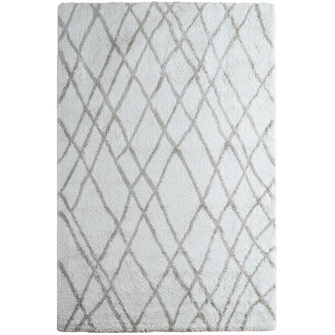 Tapis décoratif « trellis », 8' x 10', blanc