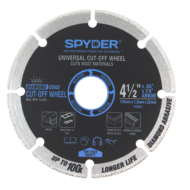Spyder Diamond Carbide Cut-Off Blade 4.5-in - Pack of 2