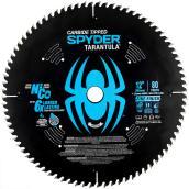 Lame de scie, Spyder scie à onglets, 12 po 80 dents noir et bleu