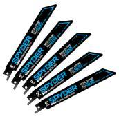 Lames pour scie alternative Spyder, ensemble de 5 lames de 6 po