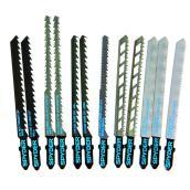 Ensemble de lames pour scie sauteuse en acier rapide Spyder, 12 pièces