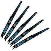 Spyder Bi-Metal Reciprocating Saw Blades - 9-in 6 Teeth - Pack of 5