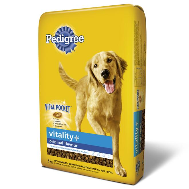 """Dry Dog Food - """"Vitality Plus"""" - 8 kg"""