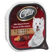 Repas humide à saveur de filet mignon pour petits chiens