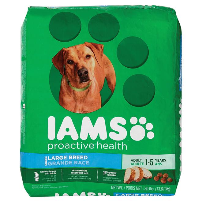 Nourriture sèche pour chien de grande race, sac de 13 kg