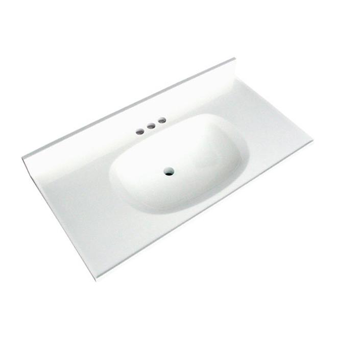 "Vanity Countertop - 37"" x 19"", White"