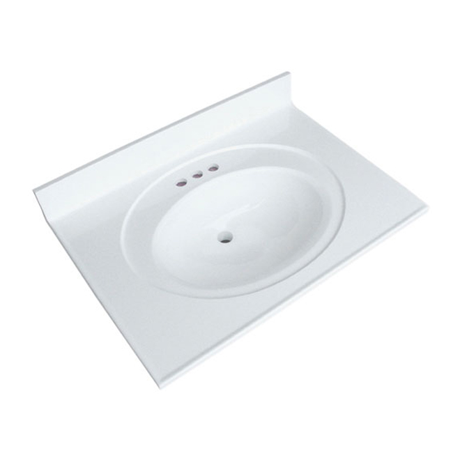 "Vanity Countertop - 49"" x 22"", White"