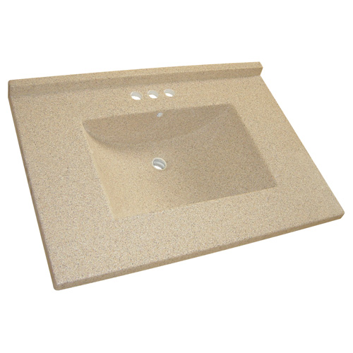"Vanity Countertop - 31"" x 22"", Granite Brown"