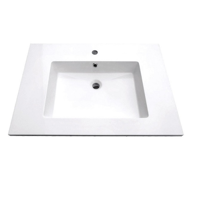 "Vanity Countertop - 31"" x 22"", White"
